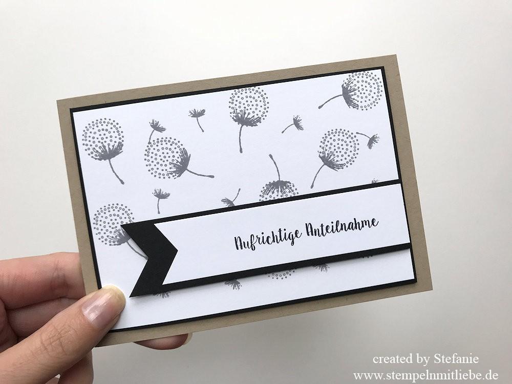 Aufrichtige Anteilnahme mit dem Stempelset Partyballons