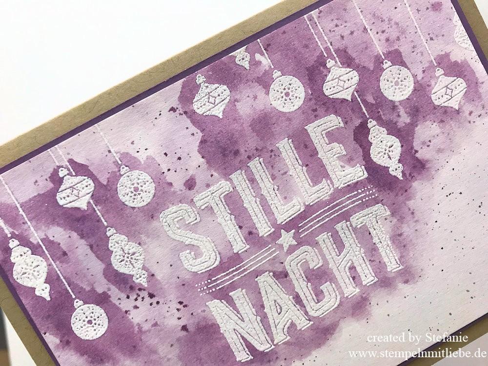 Karte Stille Nacht in Pflaumenblau Kaarst 02