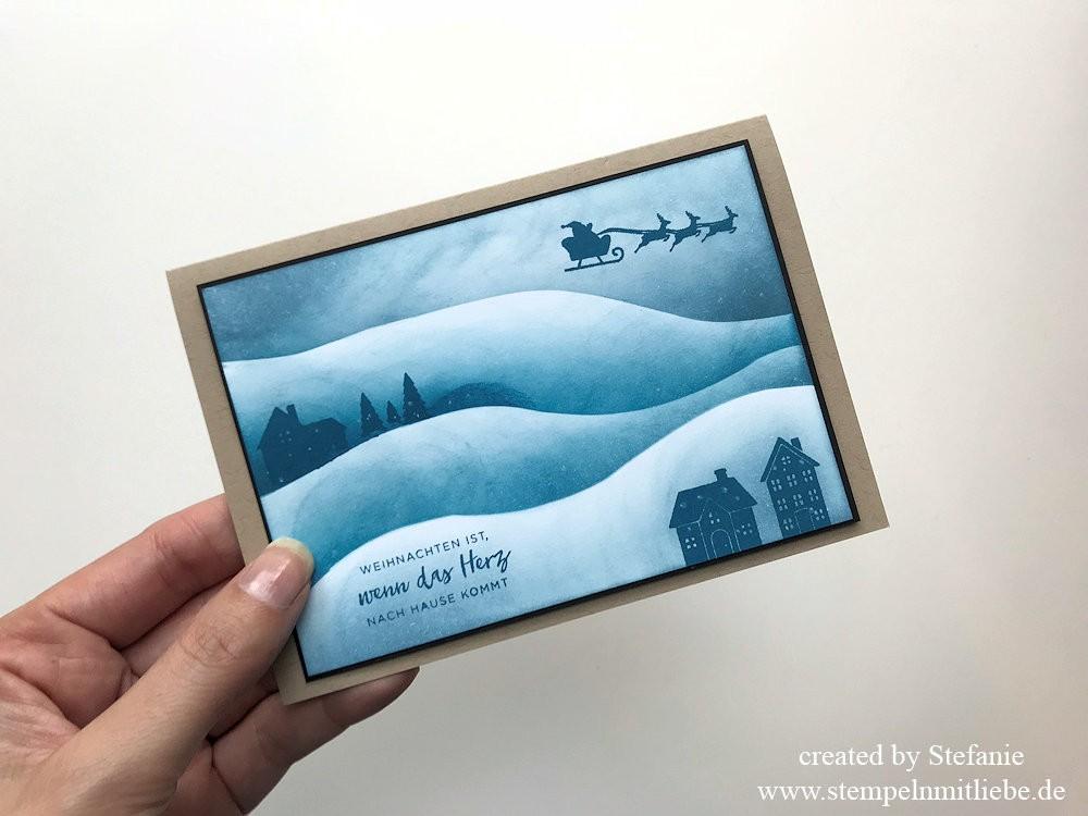 Schneelandschaft Technik-Stampin Up - Sonntag - Kaarst_stempelnmitliebe (1)