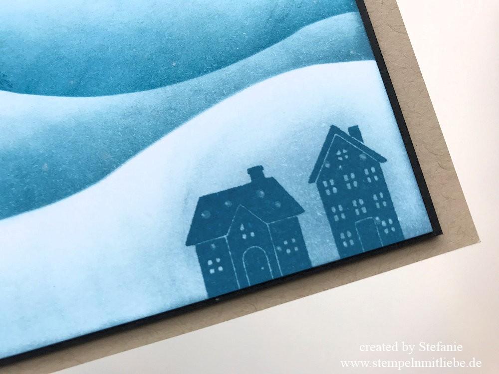Schneelandschaft Technik-Stampin Up - Sonntag - Kaarst_stempelnmitliebe (4)