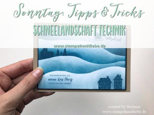 Sonntag: Tipps & Tricks Schneelandschaft Technik