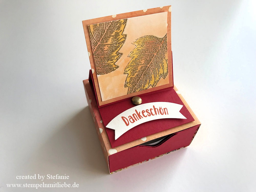 Herbst Matchbox mit Easel Pop-Up - Stampin Up - Kaarst 08
