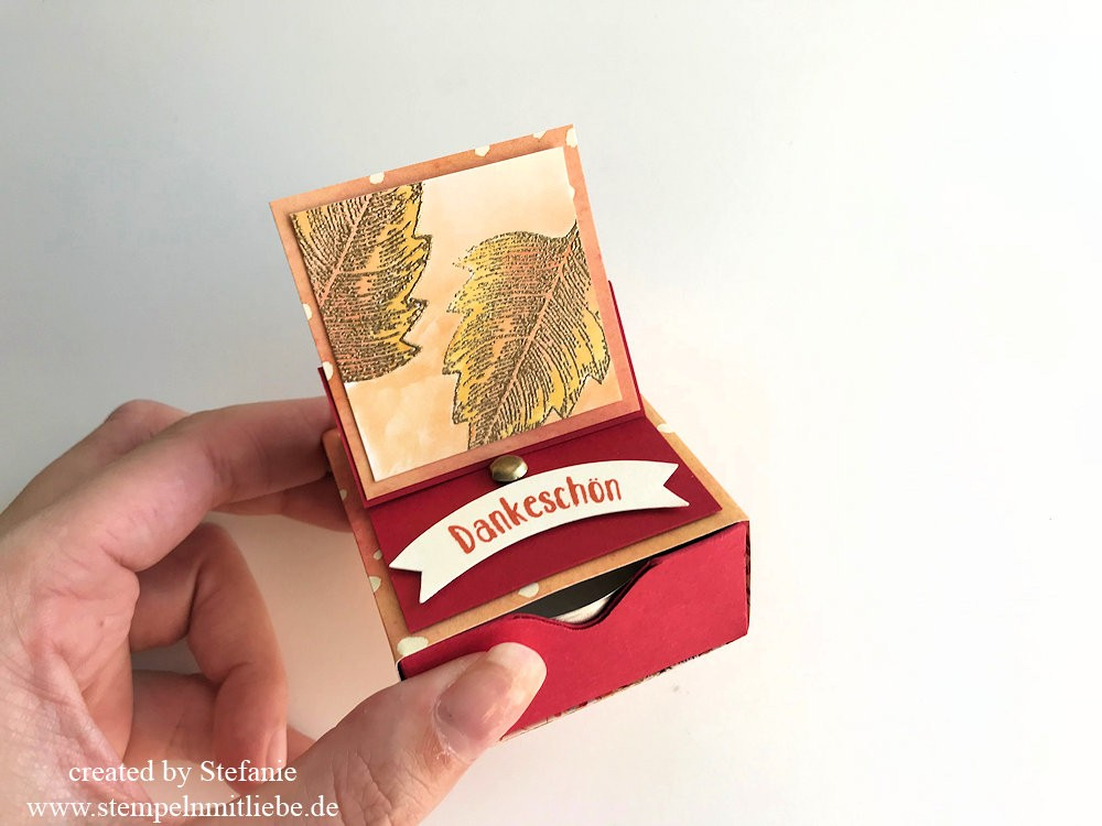Herbst Matchbox mit Easel Pop-Up - Stampin Up - Kaarst 05