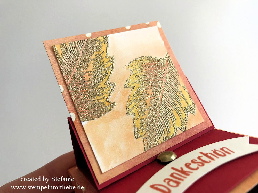 Herbst Matchbox mit Easel Pop-Up - Stampin Up - Kaarst 03