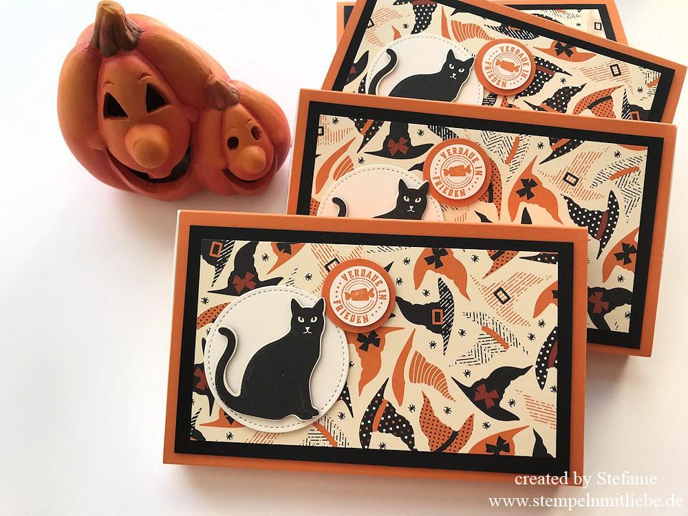 Halloween Toffiffeeverpackung inkl. Kurzanleitung
