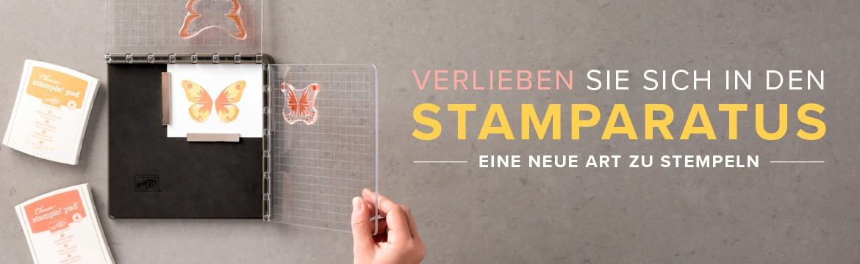 Neue Stempelhilfe von Stampin' Up - der Stamparatus