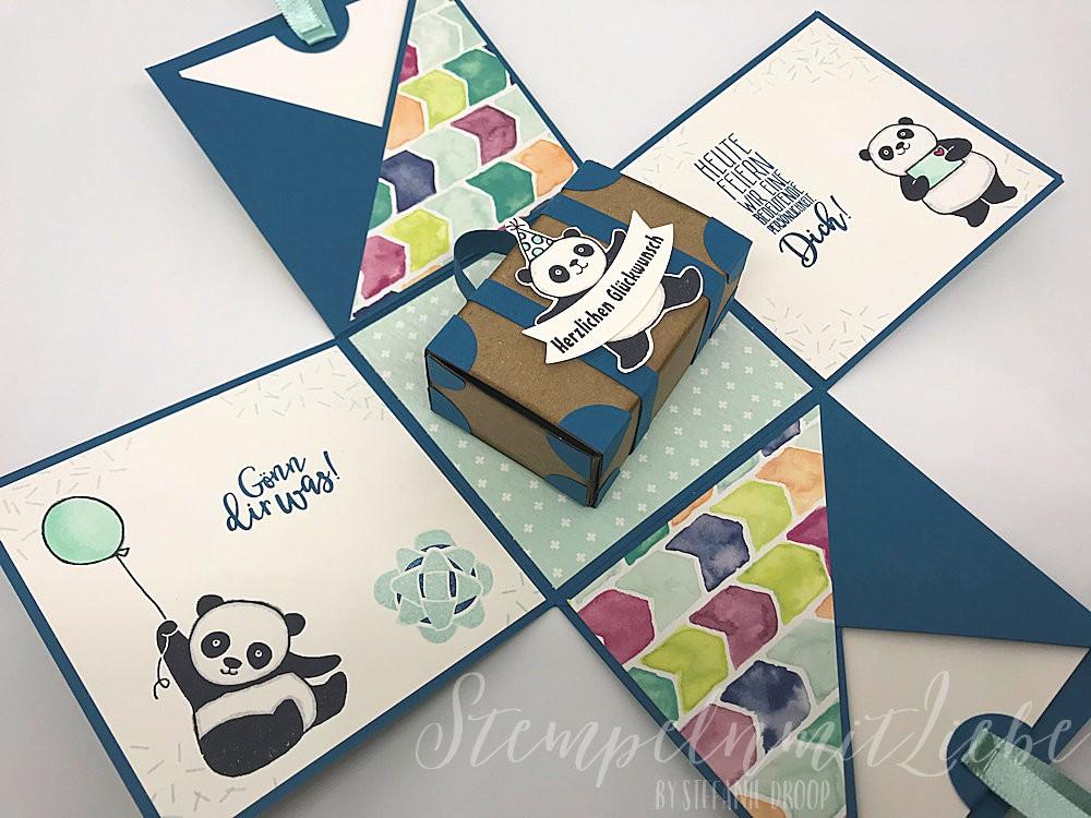 Panda-Explosionsbox zum 18. Geburtstag