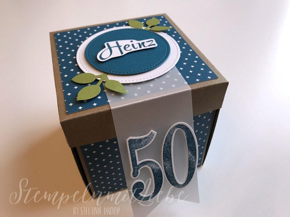 Explosionsbox zum 50 Geburtstag mit Koffer