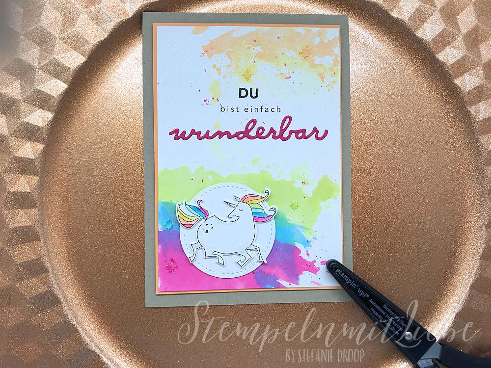 Einhornkarte in Aquarell - Stampin Up - Kaarst - StempelnmitLiebe (1)