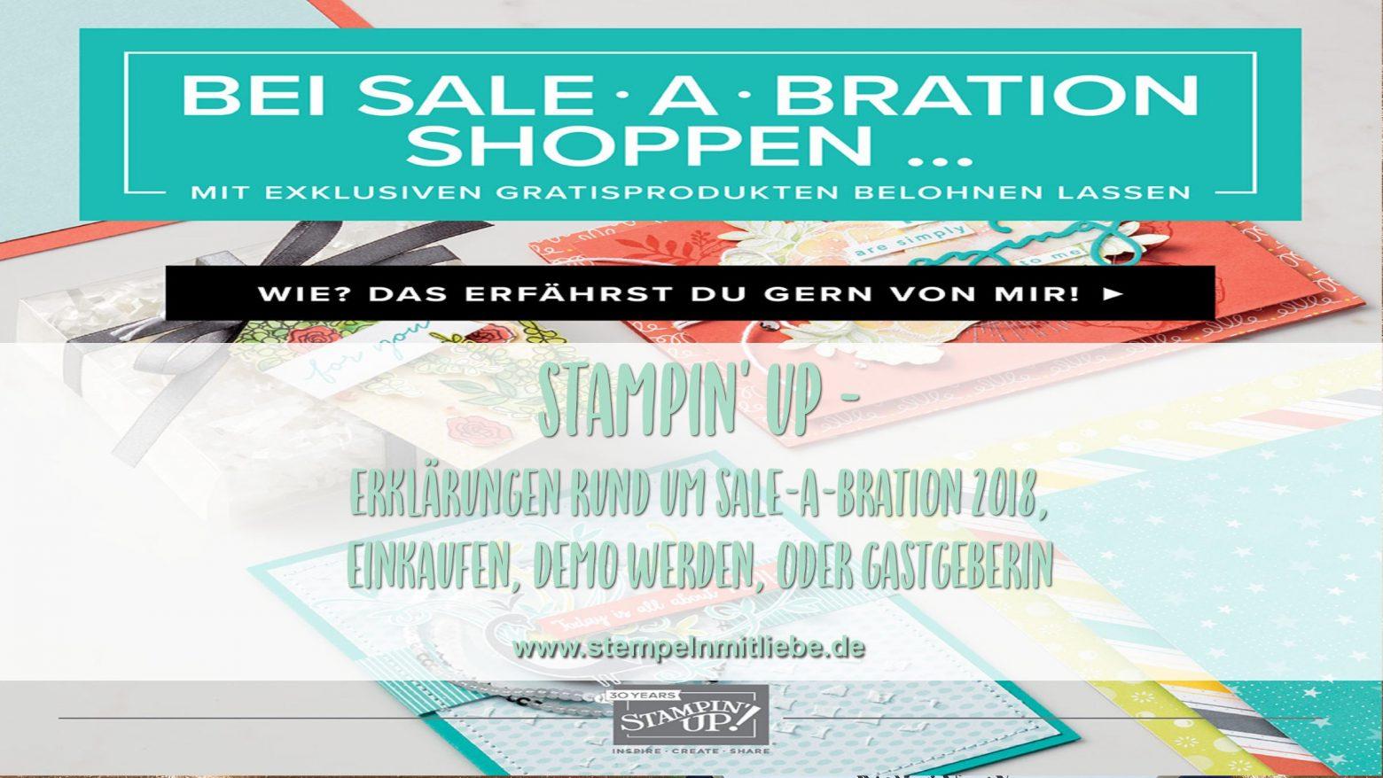 Erklärungen rund um die Sale-a-Bration 2018