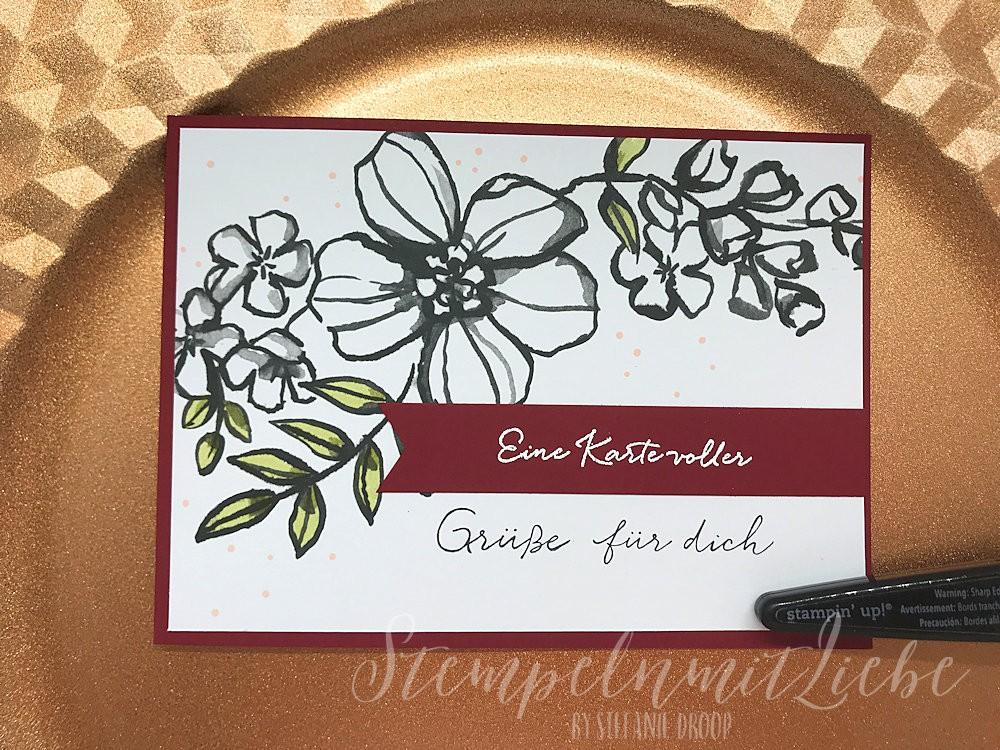 Florale Beste Wünsche - Stampin Up - Kaarst - StempelnmitLiebe (1)