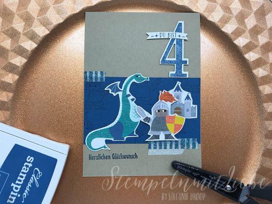 Ritterkarte zum 4. Geburtstag