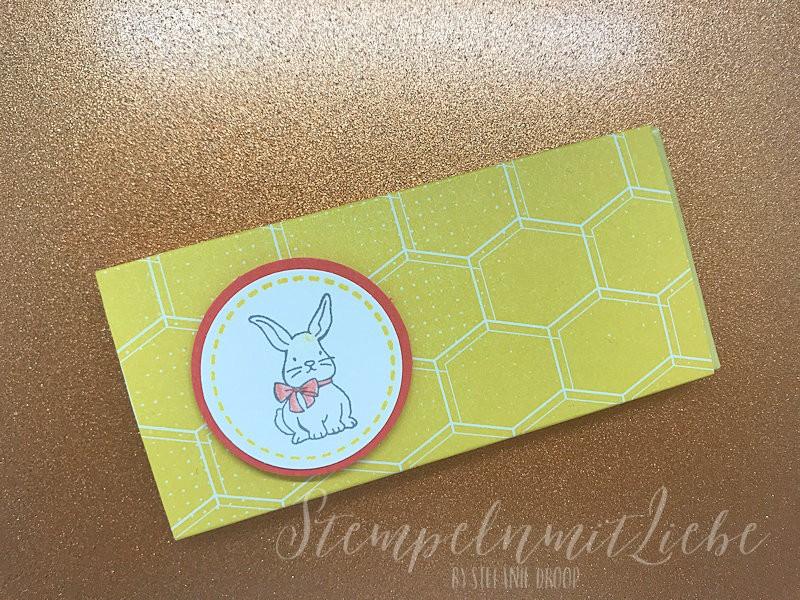Mini Schoki-Verpackung mit kleinem Osterhasen