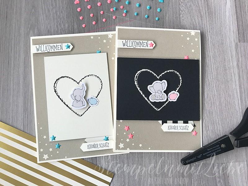 Babykarten mit dem Karten-Sortiment Babyglück II - Stampin Up - StempelnmitLiebe (1)