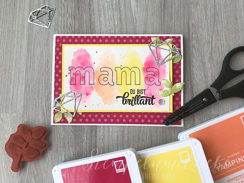 Muttertagskarte in Kussrot