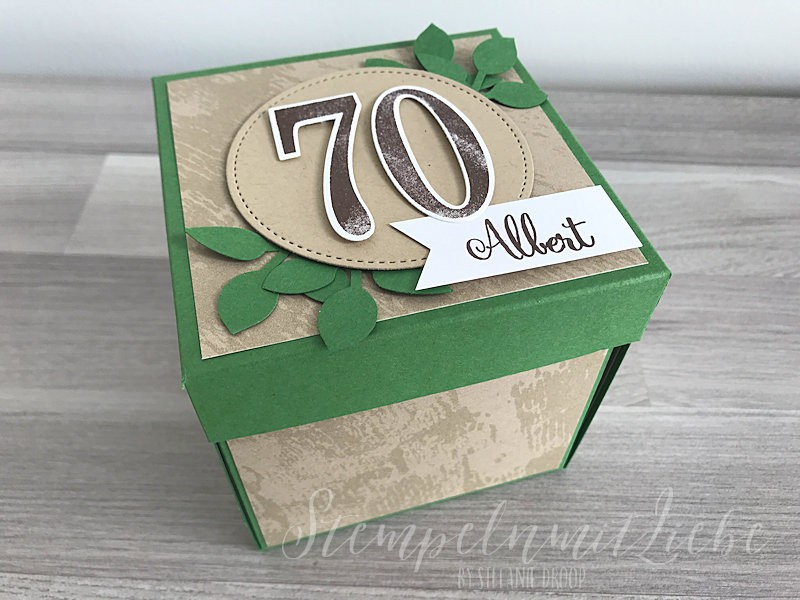 Explosionsbox zum 70. Geburtstag - Stempeln mit Liebe - Stampin Up (1)