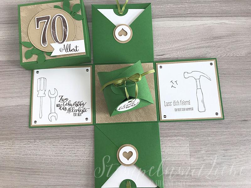 Explosionsbox Zum 70 Geburtstag Stampin Up Stempeln Mit Liebe