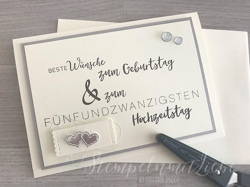 Karte Zur Silberhochzeit Geburtstag Stampin Up