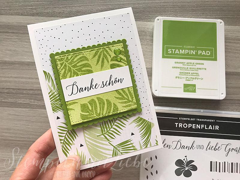 Dankeschönkarte in Grün