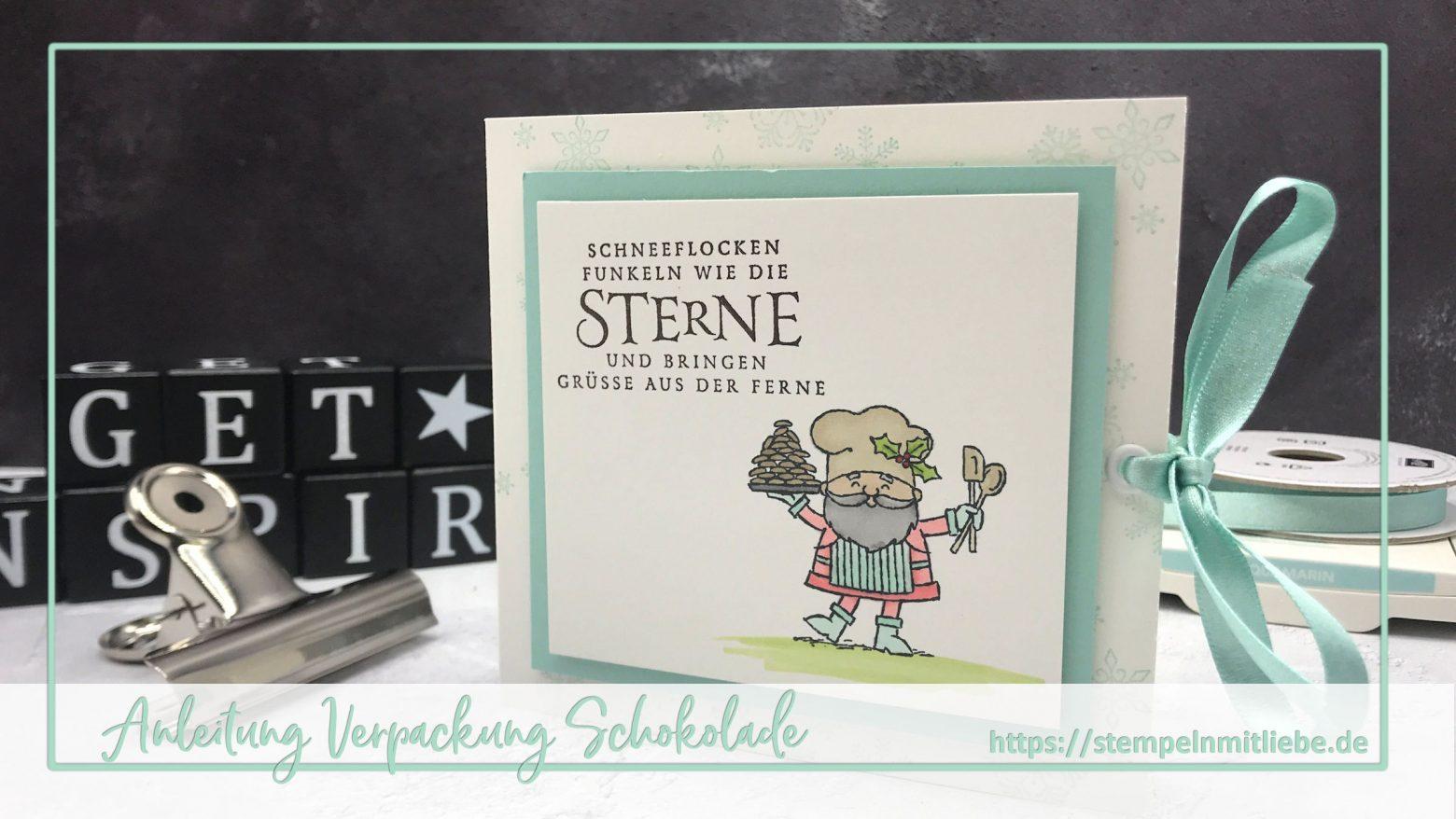Anleitung Verpackung Schokolade: Video Blog Hop