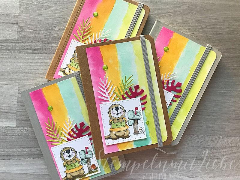 Bunte Notizbücher - Postcard Pals - StempelnmitLiebe (1)