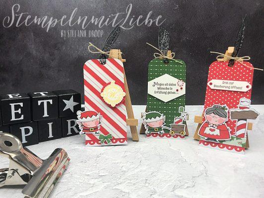 Weihnachtliche Geschenkanhänger 2018