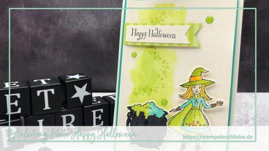 Aquarell Halloweenkarte inkl. Anleitung / Video