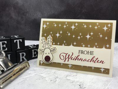 Goldene Rentier Weihnachten - StempelnmitLiebe (1)
