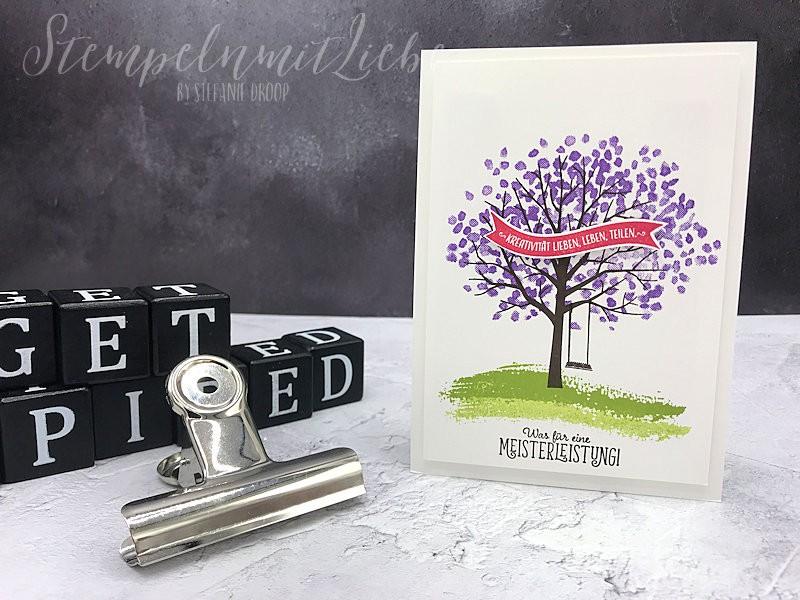 Baum der Kreativität - Stempeln mit Lieb