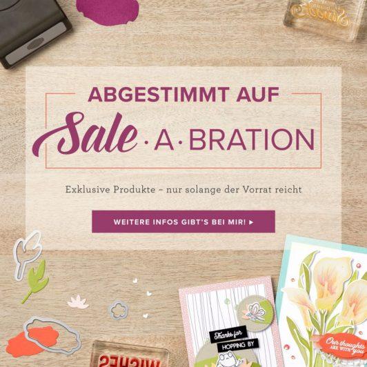 Aktuelle Aktionen Sale-a-Bration und darauf abgestimmt