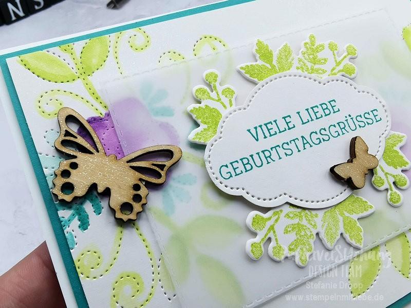 PapierverSUchung Design Team Thema Geburtstag oder Stempelset Geschickt gestickt