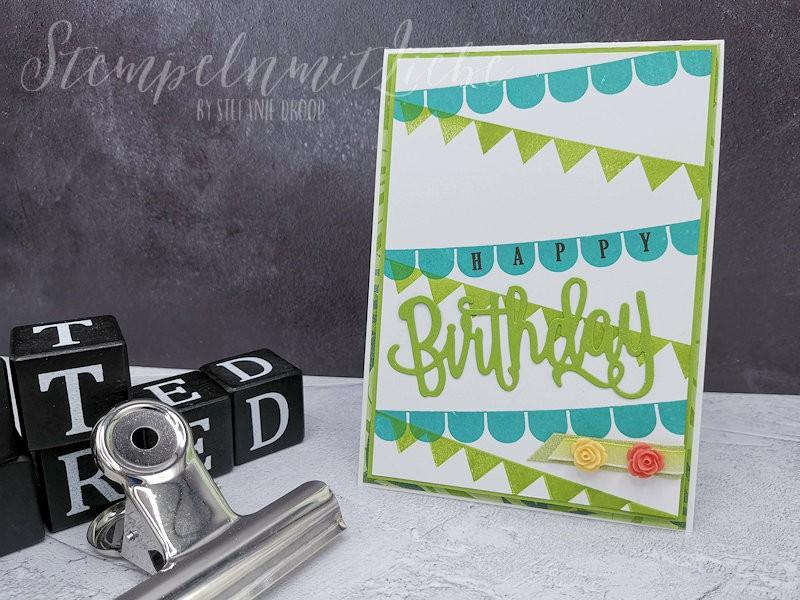 Pick a Pennant Geburtstagskarte