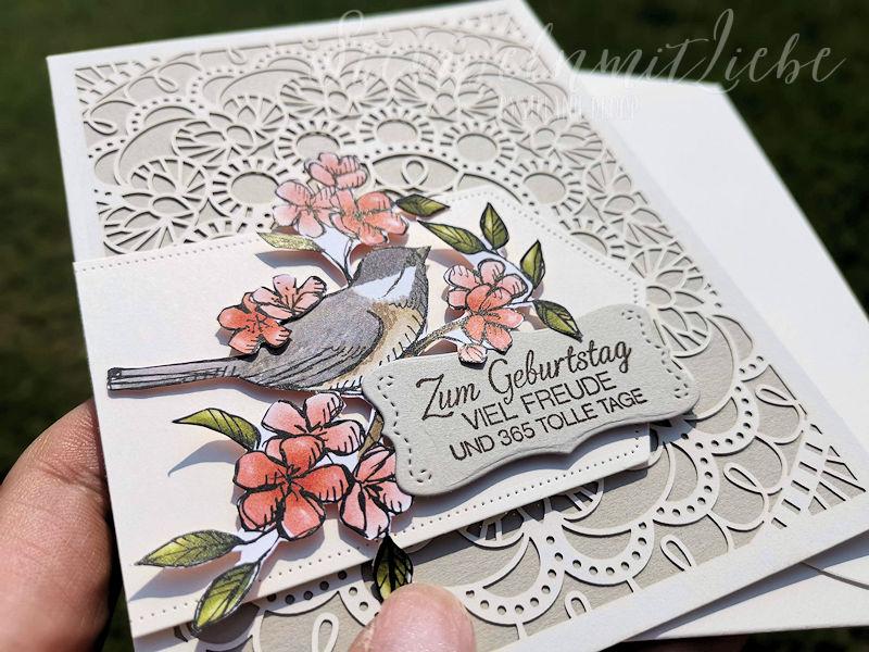 Vogelgarten Geburtstagskarte