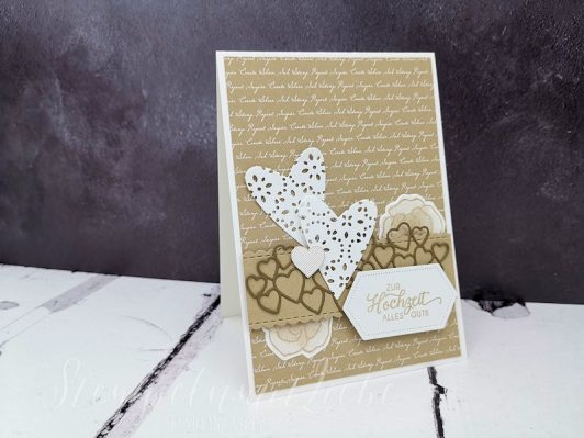 Hochzeitskarte in Savanne