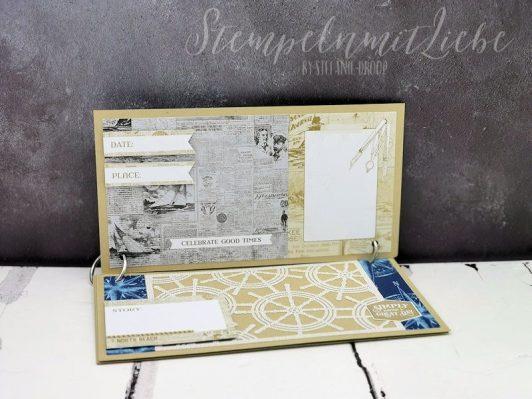 Minialbum mit Buchbinderingen