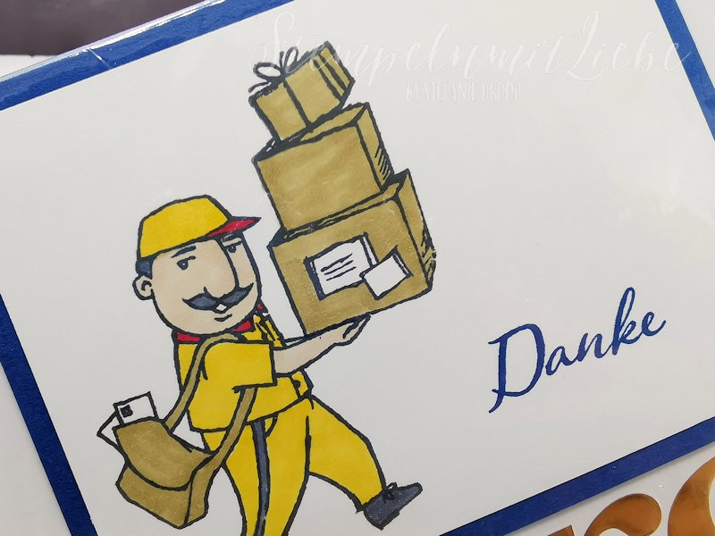 Dankeschön für den Postboten