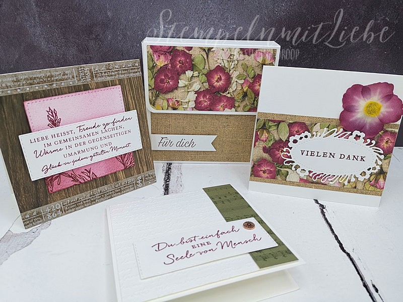 Kartenbox Blüten der Erinnerung