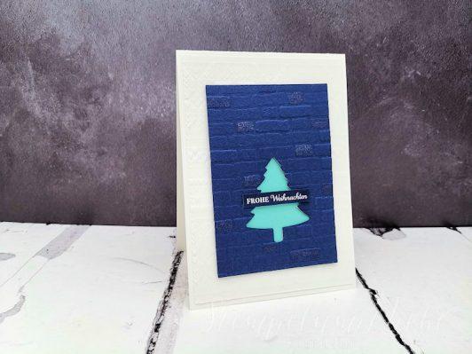Frohe Weihnachten in Marineblau