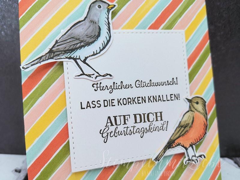 Geburtstagsgutschein mit Vogelgarten
