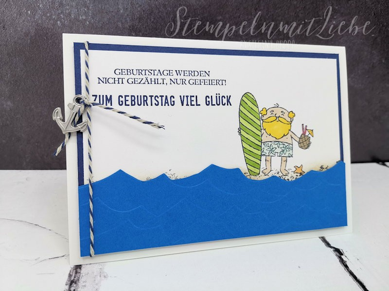 Surfer Geburtstagskarte