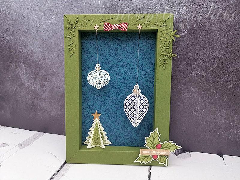 Weihnachtlicher Faltbilderrahmen