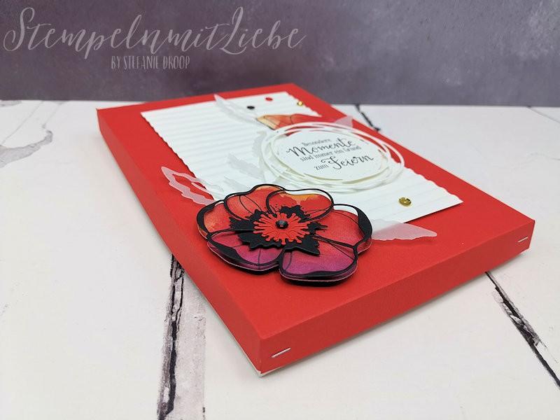 Mohnblüten Verpackung in Blutorange