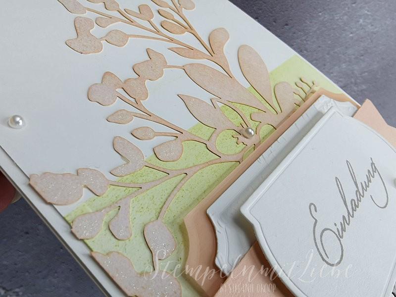 Einladungskarten zur Hochzeit in Blütenrosa