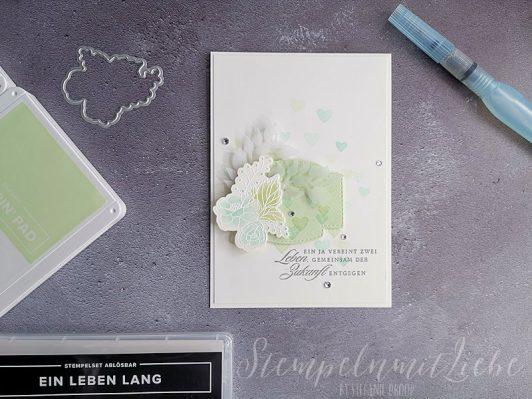 Hochzeitskarte in Lindgrün
