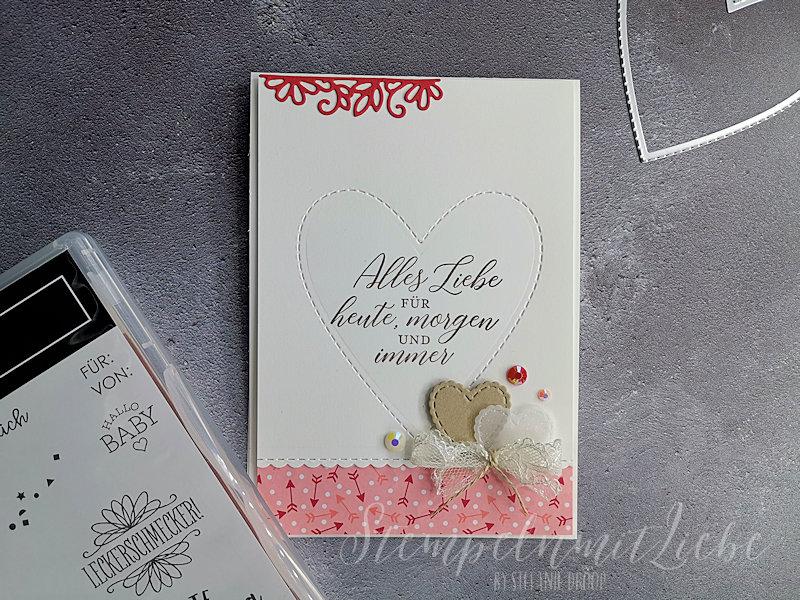 Hochzeitskarte mit Stempelset So gesagt