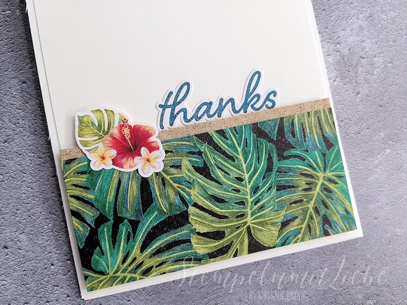 Dankeskarte mit Tropenreise