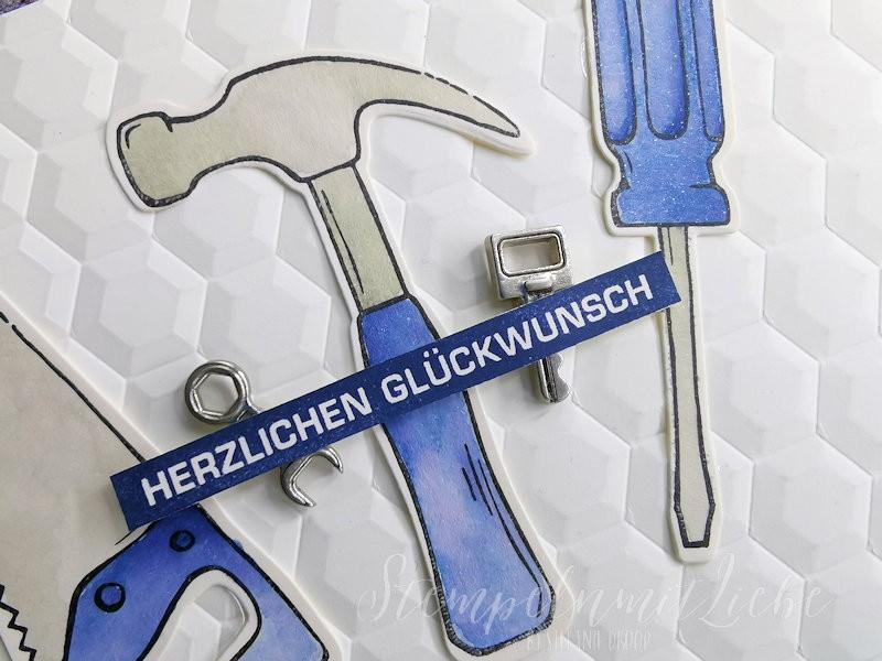 Geburtstagskarte mit Werkzeug