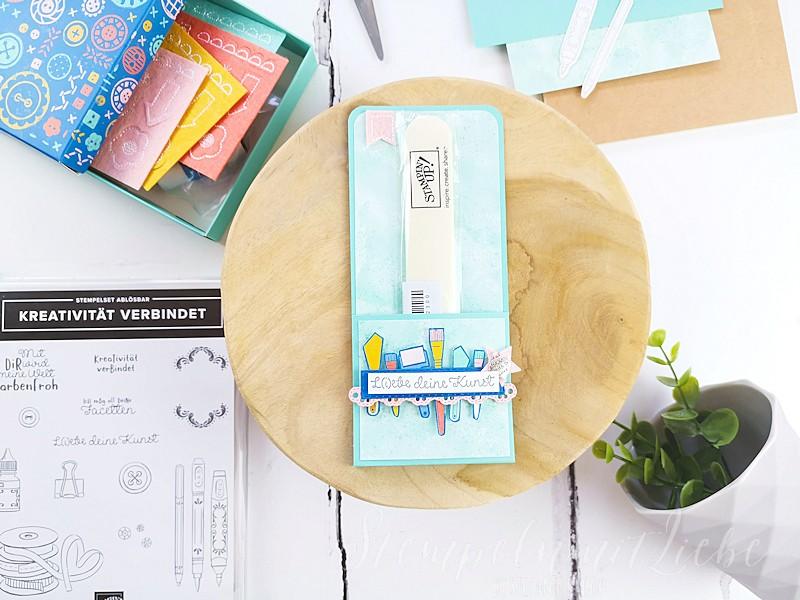 L(i)ebe deine Kunst I – Verpackung für Falzbein