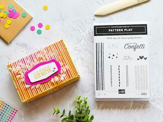 Paper Pumpkin Mini-Schachtel aufgehübscht