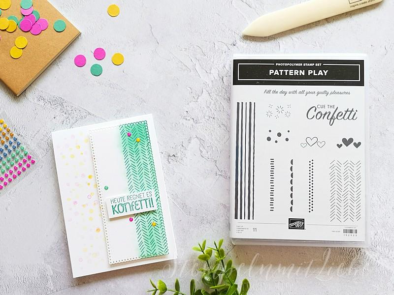Pattern Play Konfetti Karte